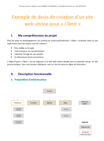 Modele devis pour creation site web