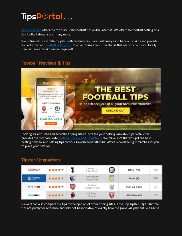 Football prediction web site