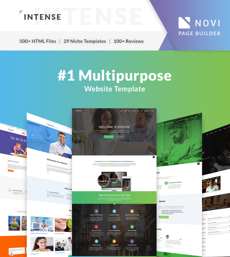 Site web html5 template